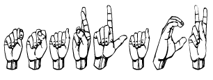 "The word ""Tsarlack"" in TsSL, the preferred Deaf sign language in Tsarlack."
