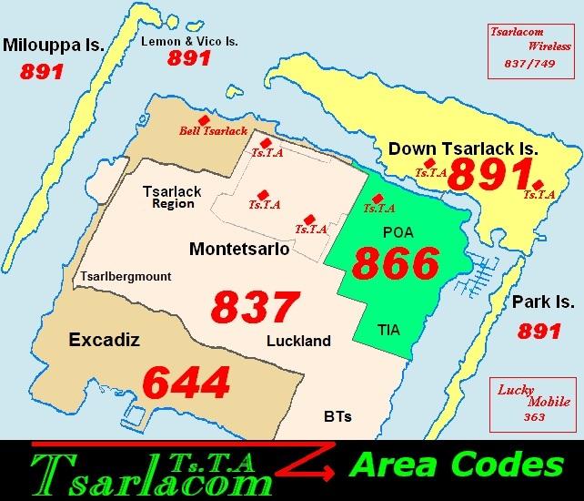Tsarlack Area Codes