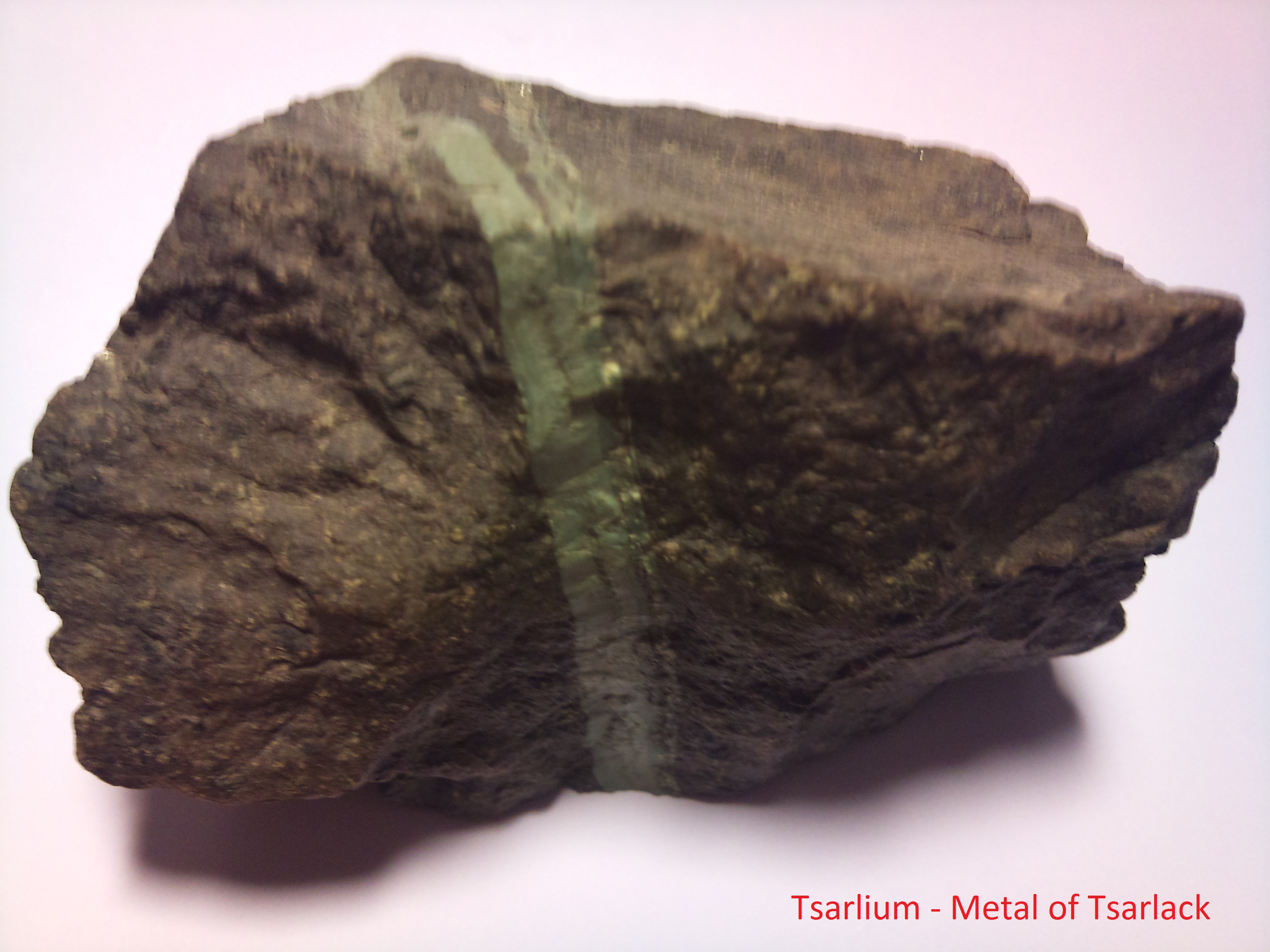 This Picture of Tsarlium is based solely upon a fictional account of a metal element.
